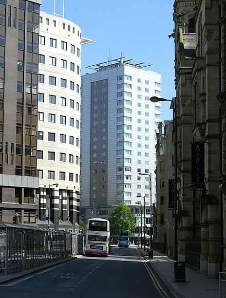 Infirmary Street in the heart of Leeds' Financial District Infirmary Street, Leeds 2012.jpg