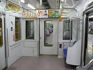 Tokyo Metro 08 series - Image: Inside Tokyometro 08 4