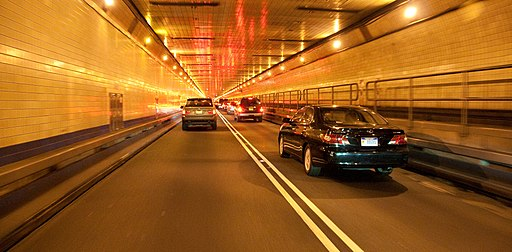 Inside Lincoln Tunnel
