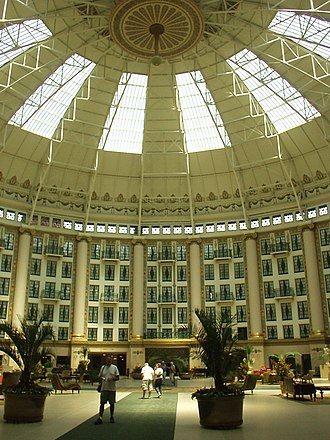 Harrison Albright - Interior of the West Baden Springs Hotel's steel and glass dome designed by Albright