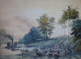 Tabasco - Image of the U.S. invasion of Villahermosa