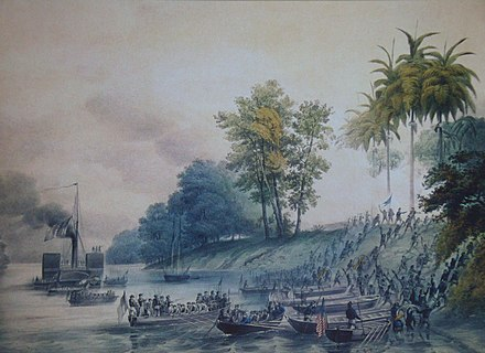 Image of the U.S. invasion of Villahermosa Intervencion estadounidense en Tabasco.jpg