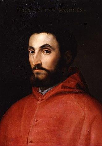 Ippolito de' Medici - Portrait of Ippolito de' Medici by Cristofano dell'Altissimo.