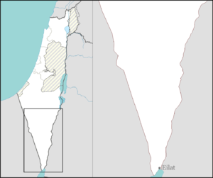 Eilat bakery bombing - Image: Israel outline negev mt