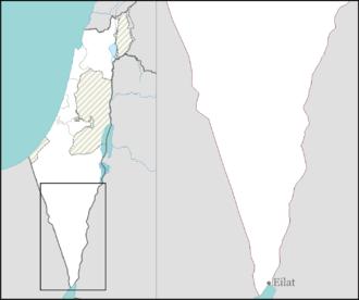 September 2012 southern Israel cross-border attack - Image: Israel outline negev mt