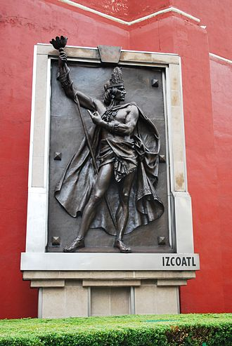 Itzcoatl - Bronze casting done of Itzcoatl by Jesus Contraras in the Garden of the Triple Alliance located in the historic center of Mexico City