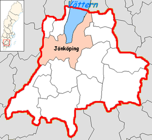 Jönköping Municipality - Image: Jönköping Municipality in Jönköping County