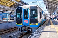 JRS 2000 series DMU 2123 set Shimanto at Takamatsu Station 2017-04-02.jpg
