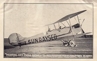 "Sunraysia - Jack De Garis promoting ""Sun-Raysed"", a coined word which later became ""Sunraysia""."