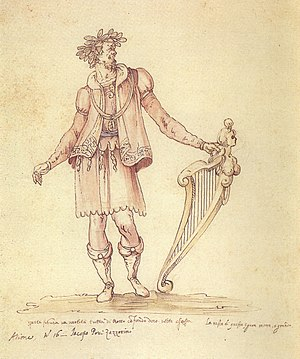 Origins of opera - Jacopo Peri as Arion in La pellegrina