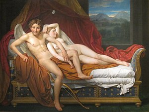 Love and Psyche (David) - Image: Jacques Louis David Cupid and Psyche WGA06099