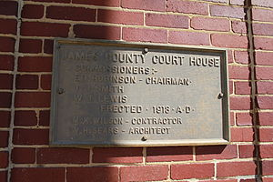 James County Courthouse - Image: James County Courthouse 1
