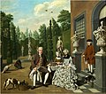 Jan Josef Horemans the Elder - Noble family dining before a park.jpg