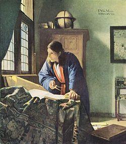 ヨハネス・フェルメールの『地理学者』