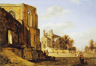 View of a City Square with Weidenbach Cloister and St. Pantaleon, Cologne