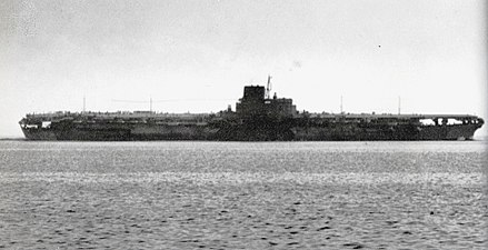 The Japanese carrier Shinano was the biggest carrier in World War II, and the largest ship destroyed by a submarine. Japanese aircraft carrier Shinano.jpg