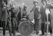 The King & Carter Jazzing Orchestra photographed in Houston, Texas, January 1921
