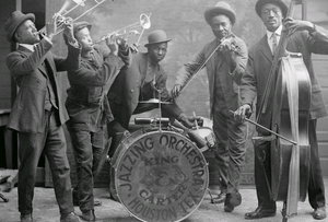 King & Carter Jazzing Orchestra, 1921, Texas.