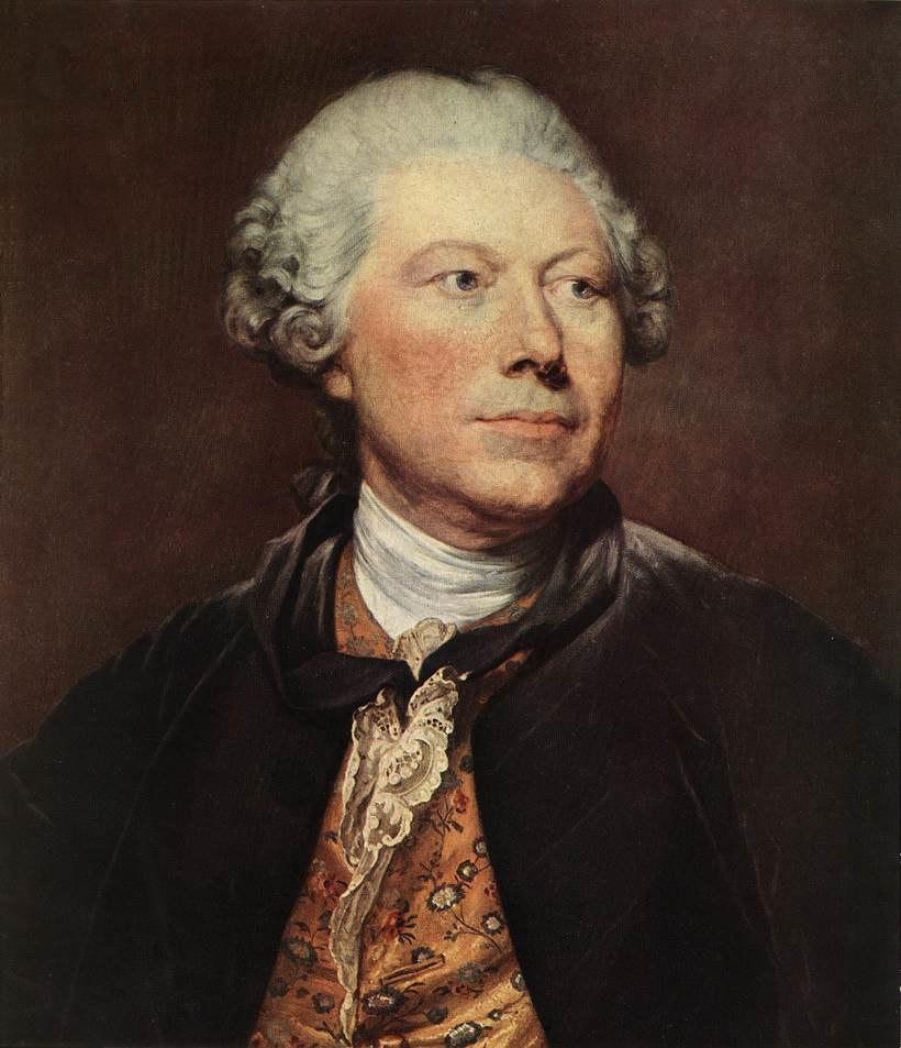 Jean-Baptiste Greuze - Portrait of Georges Wille - WGA10670