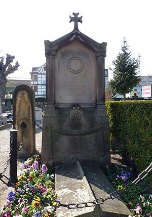 Georges Humann - Humann's tomb in Sainte-Hélène cemetery in Strasbourg