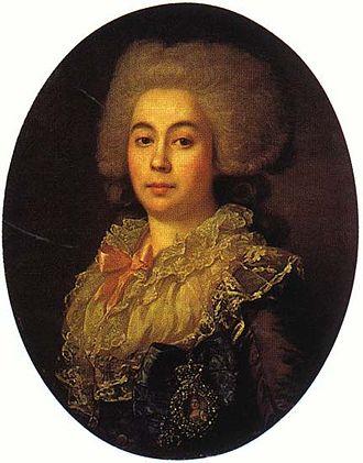 Anna Protasova - Anna Stepanovna Protasova's 1789 portrait by Jean-Louis Voille
