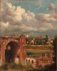 View of the Basilica of Constantine from the Palatine, Rome
