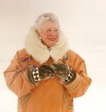 Jean Craighead George in Barrow, AK, 1994