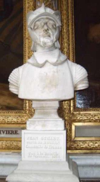 John Stewart, Earl of Buchan - Bust of John Stewart, Earl of Buchan in the Galerie des Batailles du Château de Versailles.