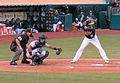 Jed Lowrie batting.JPG