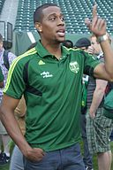 Jeremy Hall at Portland Timbers fan event 2011.jpg