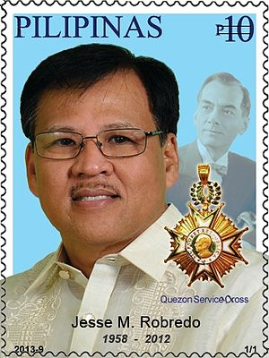 Jesse Robredo - Robredo on a 2013 stamp of the Philippines