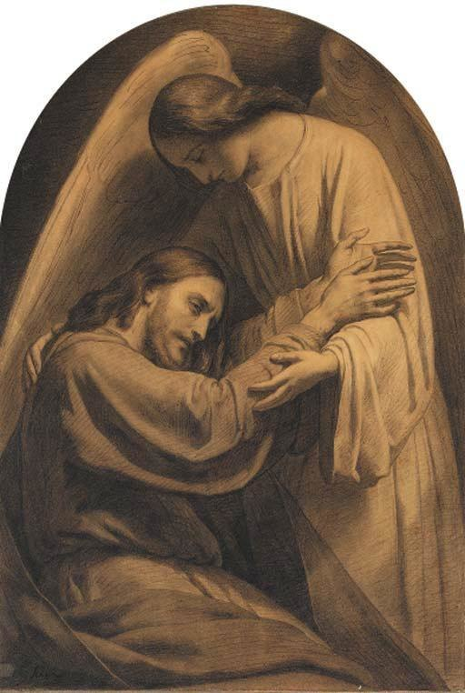 Jesus and Angel by Ary Scheffer