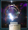 Jimi Hendrix's tambourine, Hard Rock Cafe Hollywood.JPG