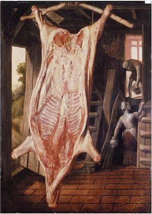 Joachim Beuckelaer - Slaughtered pig