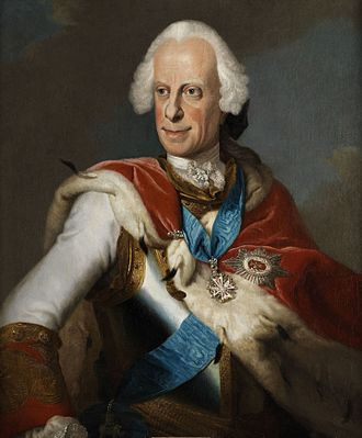 Louis VIII, Landgrave of Hesse-Darmstadt - Portrait of Louis VIII  by Johann Christian Fiedler