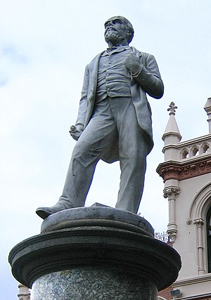 John Ballance - A statue of John Ballance outside the Parliamentary Library in Wellington
