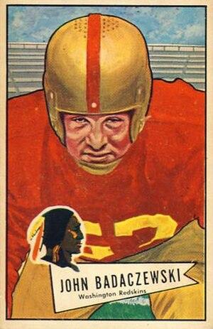 John Badaczewski - Badaczewski on a 1952 Bowman football card