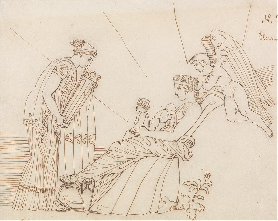 John Flaxman - To Phoebus at His Birth, From Aeschylus, Furies - Google Art Project