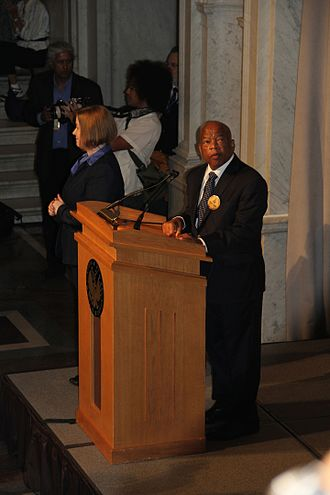 March on Washington for Jobs and Freedom - John Lewis speaking in the Great Hall of the Library of Congress on the 50th anniversary, August 28, 2013