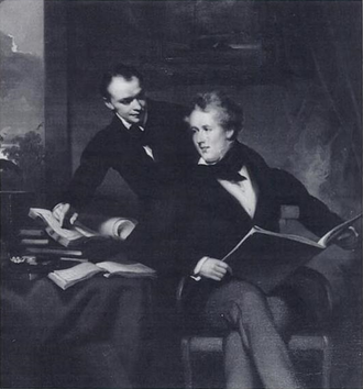 John Robert Morrison - Morrison (right) with a colleague. Painted by George Chinnery.