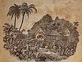 John Williams visits Rarotonga 6 May 1827, engraving on wood by G. Baxter. First American edition 18344103007 (cropped).jpg