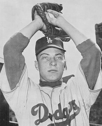 Johnny Podres - Podres with the Los Angeles Dodgers in 1961