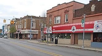 Hamtramck, Michigan - Image: Jos Campau at Norwalk Hamtramck MI