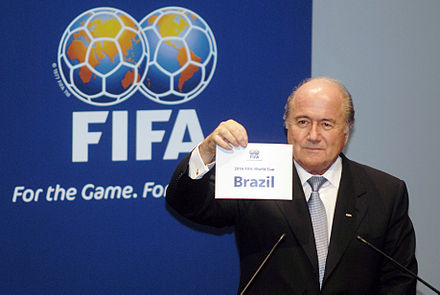 Announcing of Brazil as hosts, 2007 Joseph Blatter - World Cup 2014.jpg