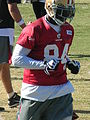 Josh Morgan at 49ers training camp 2010-08-11 3.JPG