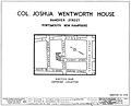 Joshua Wentworth House location map (1934).jpg