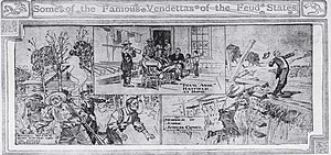 French–Eversole feud - Graphic image of the murder of Judge Josiah Henry Combs (last killing of the French-Eversole War)
