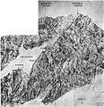 Jugovzhodno ostenje Kokrske Kočne s smerjo po južnem grebenu 1941.jpg