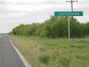 Justiceburg, Texas - Image: Justiceburg Texas Welcome