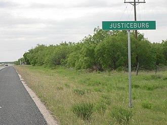 Justiceburg, Texas - Image: Justiceburg Texas Welcome